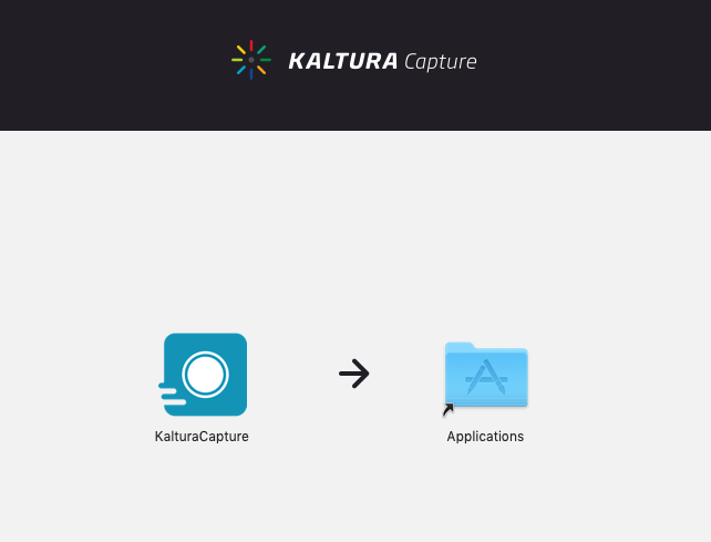 Drag Kaltura Capture to applications