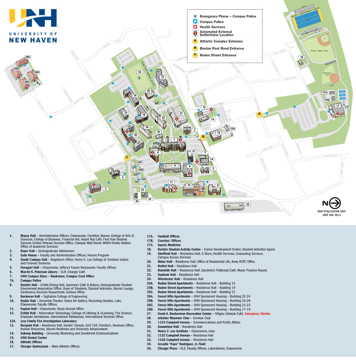 University Of New Haven Campus Map University of New Haven   Campus Map